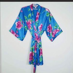 Blue Floral Robe